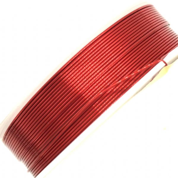 Colour coated copper wire for jewellery and crafts - colour red